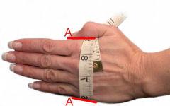 Table de taille des gants